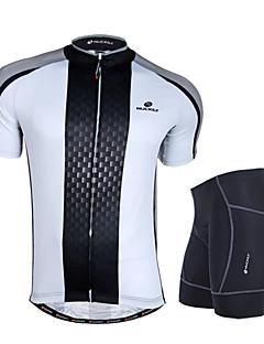 NUCKILY® חולצת ג'רסי ומכנס קצר לרכיבה לגברים שרוול קצר אופנייםנושם / עמיד / עיצוב אנטומי / חדירות ללחות / רוכסן קדמי / תיק קטל מובנה /