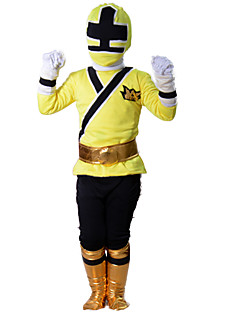 Yellow Rangers Costume Kids Power Samurai Cosplay Children Halloween Costumes For Kids Superhero Spandex Bodysuit Zentai