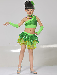 Performance Outfits Children's Performance Spandex Sequins 5 Pieces Blue / Fuchsia / Light Green / Red
