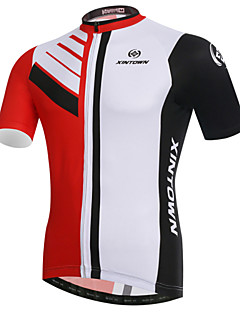 XINTOWN Cycling Jersey Men's Short Sleeves Bike Jersey Tops Quick Dry Ultraviolet Resistant Breathable Compression Lightweight Materials