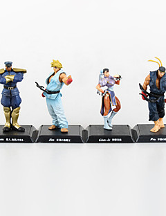 Street Fighter Anime Action Figure 11CM Model Toy Doll Toy(4 Pcs)