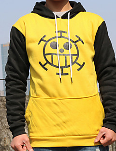 Inspirado por One Piece Trafalgar Law Anime Fantasias de Cosplay Hoodies cosplay Patchwork Estampado Manga Longa Blusa Mais Acessórios