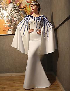 Serata formale Vestito - Formale Da ballo Stondata Lungo Raso Con strass conCon applique Perline Dettagli con cristalli Fiore (i) Di