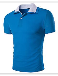 Pánské Bavlna / Polyester Denní nošení / Větší velikosti Barevné bloky Polo Krátký rukáv