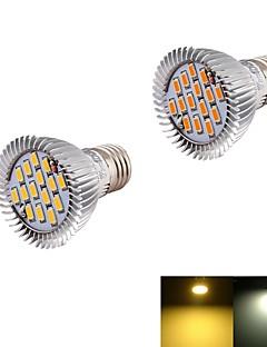 Spot LED Décorative Blanc Chaud / Blanc Froid YouOKLight 2 pièces BA E26/E27 7W 15 SMD 5630 560 lm AC 85-265 / AC 100-240 / AC 110-130 V