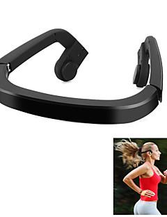 los auriculares de los auriculares de conducción ósea bluetooth4.0 negro sin hilos estéreo del deporte