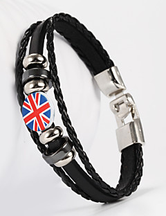 PU braccialetto inglese forma bandiera nazionale maschile