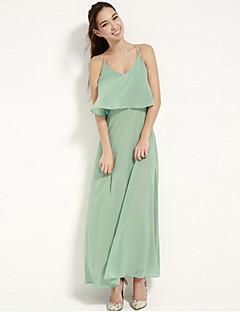 JoanneKitten@ Women's Vintage/Sexy/Beach/Cute/Party/Work/Maxi Inelastic Sleeveless Chiffon Maxi Dress (Polyester)