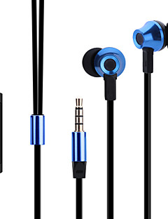 ABINGO ES700 Metal Ergonomic Earbuds Style Headphones with Microphone & Remote Control for Smartphone