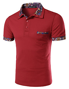 Men's Short Sleeve Polo,Cotton Work Pure