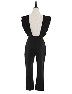 Uden ærmer Kvinders Street Jumpsuits Uelastisk Polyester