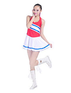 Cheerleader Costumes Outfits Women's Performance / Training Cotton / Polyester Cheerleader Costumes / Performance Sleeveless Natural