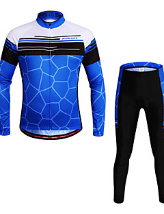 Wosawe® Cycling Jersey with Tights Unisex Long Sleeve BikeBreathable / Quick Dry / Anatomic Design / Reduces Chafing / Sweat-wicking / 3D