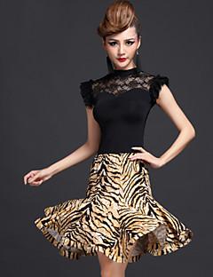 ריקוד לטיני תלבושות בגדי ריקוד נשים ביצועים Chinlon / ויסקוזה / מילק פייבר עטוף 2 חלקים חצאית / עליוןDress length M/L/XL:95cm Suitable