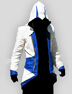 Inspirado por Assassin's Creed Conner Animé Disfraces de cosplay sudaderas Cosplay Retazos / Estampado Rojo / Azul Manga Larga Top