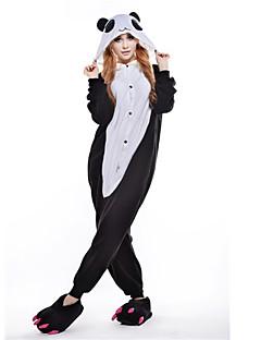 Kigurumi Pyjamas Panda Trikot/Heldragtskostumer Festival/Højtider Nattøj Med Dyr Halloween Sort Polarfleece Kigurumi Til UnisexHalloween