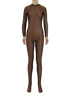 Zentai Suits Ninja Zentai Cosplay Costumes Brown Solid Leotard/Onesie / Zentai Lycra / Spandex Unisex Halloween / Christmas