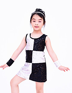 Jazz Dancewear Adults' Children's Sequined Black And White Tank Dress