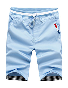 Summer Men's Casual Breathable Comfortable Shorts,Casual / Plus Sizes Solid Cotton / Polyester