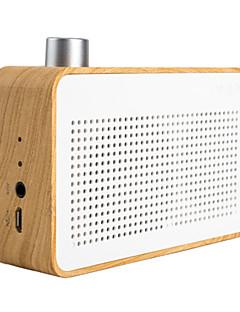 Trozk Fashion Portable Wood Bluetooth Mini Speaker Radio / Power Bank Function White