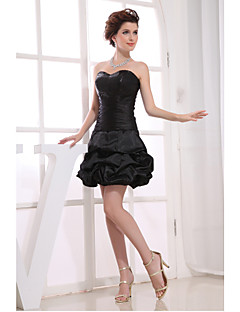 Cocktail Party Dress A-line Strapless Short/Mini Taffeta