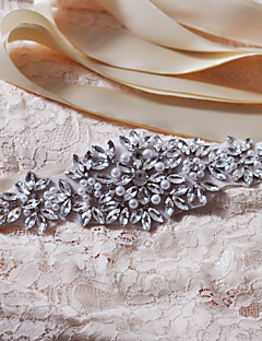 Satin Wedding / Party/ Evening / Dailywear Sash-Appliques / Pearls / Floral / Rhinestone Women's Sashes