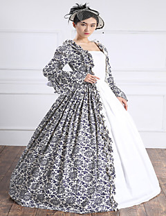 Steampunk®Georgian Gothic Party Dress Print Victorian Gown