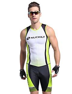 NUCKILY® Macacão para Triathlon Homens Manga Curta MotoRespirável / Design Anatômico / Resistente Raios Ultravioleta / Permeável á