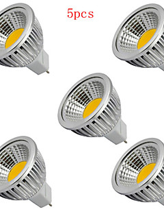 5W GU5.3(MR16) Spot LED MR16 1 COB 400LM lm Blanc Chaud / Blanc Froid Décorative DC 12 V 5 pièces