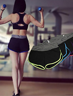 Women's Running Shorts Bottoms Breathable Quick Dry Spring Summer Fall/Autumn Yoga Exercise & Fitness Leisure Sports Running SlimYellow