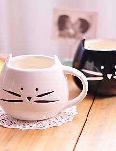 1pc 300ml schattig zwart-witte kat keramische cup persoonlijkheid kopje landelijke cup geschenken amoureuze gevoelens