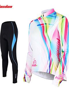 TASDAN Calça com Camisa para Ciclismo Mulheres Manga Longa Moto Calças Camisa/Roupas Para Esporte Meia-calça braço aquecedores Blusas