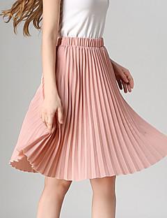 Polyester-Rekbaar-Vintage / Casual-Tot de knie-Vrouwen-Rokken