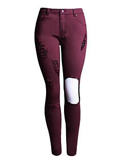 Vardag / Streetchic Jeans Byxor Kvinnors Microelastisk Polyester