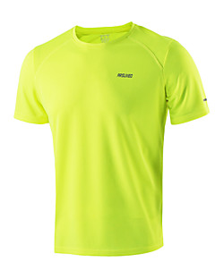Running Tops Men's Short SleeveBreathable / Quick Dry / Antistatic / Static-free / Lightweight Materials / Reflective Strips / Limits