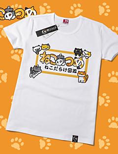 geinspireerd door Cosplay Kat Anime Cosplay Kostuums Cosplay T-shirt Print  Geel Korte mouw T-Shirt