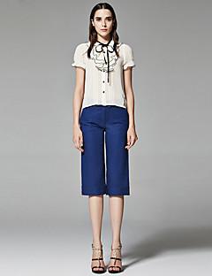 ZigZag® Damen Hemdkragen 1/2 Länge Ärmel Shirt & Bluse Beige - 11349