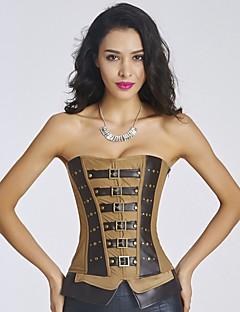 Vrouw Onderbuste korset / Overbuste korset / Grote maten Nachtkleding-Patchwork  Sexy / Push-Up / Print  / Retro Nylon / Polyester / PU