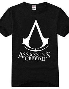 Inspired by Assassin's Creed Ezio Anime Cosplay Costumes Cosplay T-shirt Print Yellow Short Sleeve T-shirt