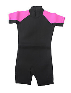 Kid's Diving Suit  Wearable / YKK Zipper / Thermal / Warm Wetsuits 1.5 to 1.9 mm Pink / Black XXS / XS / S / M