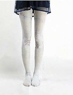 søt lolita hvit / svart nylon