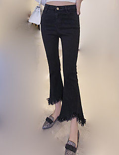 Women's Solid Black Jeans / Bootcut Pants,Casual / Day