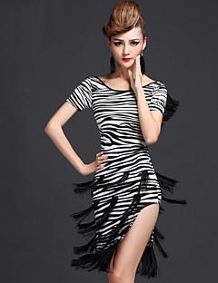 ריקוד לטיני שמלות בגדי ריקוד נשים ביצועים מילק פייבר גדיל (ים) חלק 1 שמלותDress length M/L/XL:95cm Suitable weight M:45-55kg / L:55-65kg