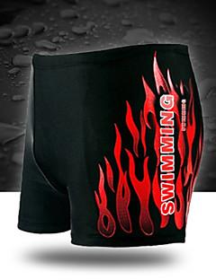 Men's Cotton / Spandex Floral Swim Shorts