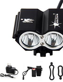 Stirnlampen / Radlichter / Fahrradlicht LED 5000 Lumen 4.0 Modus Cree XM-L T6 Wasserdicht / Wiederaufladbar / Notfall RadsportAluminium
