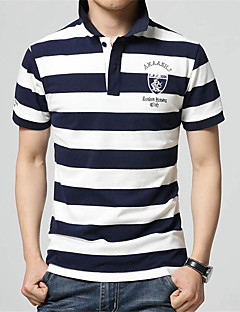 Men's Short Sleeve Polo,Cotton Casual Striped