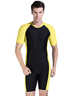 Homme Costumes humides Combinaison Courte Séchage rapide Résistant aux ultraviolets Coque Intégrale Tactel Tenue de plongéeTee-shirts