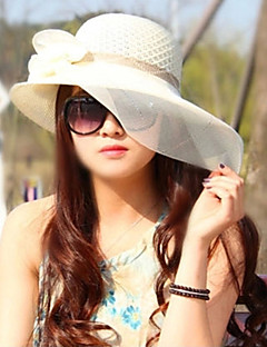 Women Straw Bow Sun Fedora Hat,Party / Casual Spring / Summer / Fall