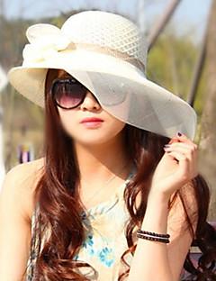 Для женщин Для женщин Для вечеринки / На каждый день Sun Hat,Соломка,Весна / Лето / осень