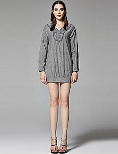 ZigZag® Damen Rundhalsausschnitt Lange Ärmel T-Shirt Grau - 11356